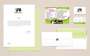Diseño de logo y aplicaciones básicas de papelería para una tienda de animales.